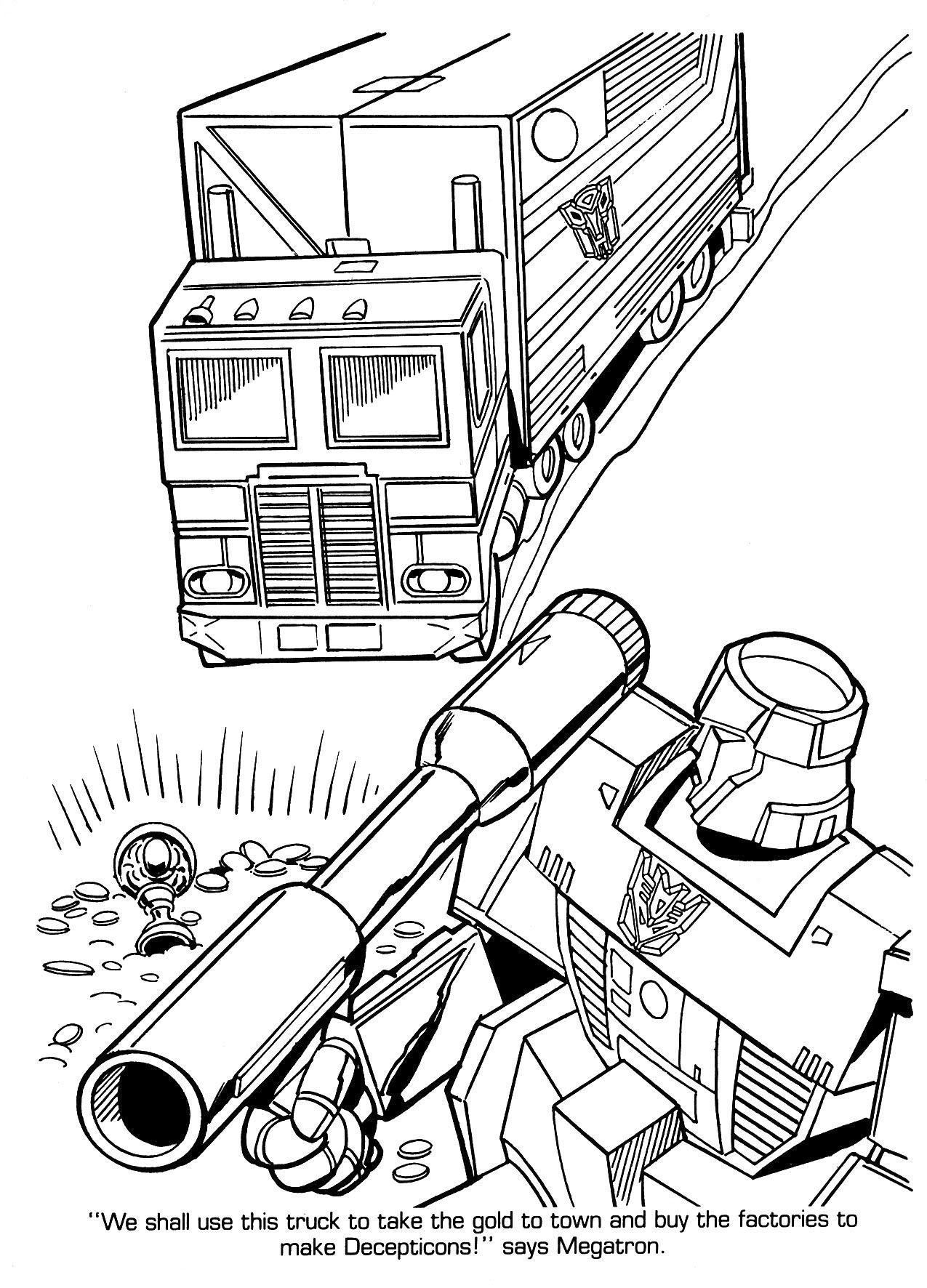 brilliant transformers optimus prime coloring pages
